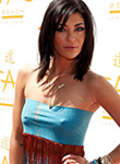 Jessica Szohr braless flashes chilly nipples