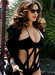 Kelly Brook huge breasts in sexy swimsuit