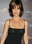 Lisa Rinna braless wears see through dress