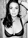 Lindsay Lohan hot in see through lingerie