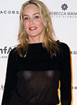 Sharon Stone braless in see through top