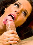 Veronica Avluv in stockings rides a cock