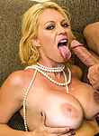 Charley Chase sassy blonde MILF bouncing hard on a meat pipe