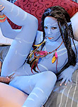 Misty Stone horny navi babe loves a hard human dick filling her alien pussy