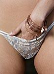 Georgia Jones slips off her sexy lingerie