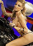 Juelz Ventura takes a motorbike ride nude