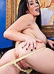 Jayden Jaymes loses her yellow lingerie