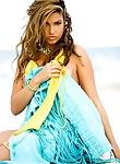 Monica Leigh loses her bikini at the beach